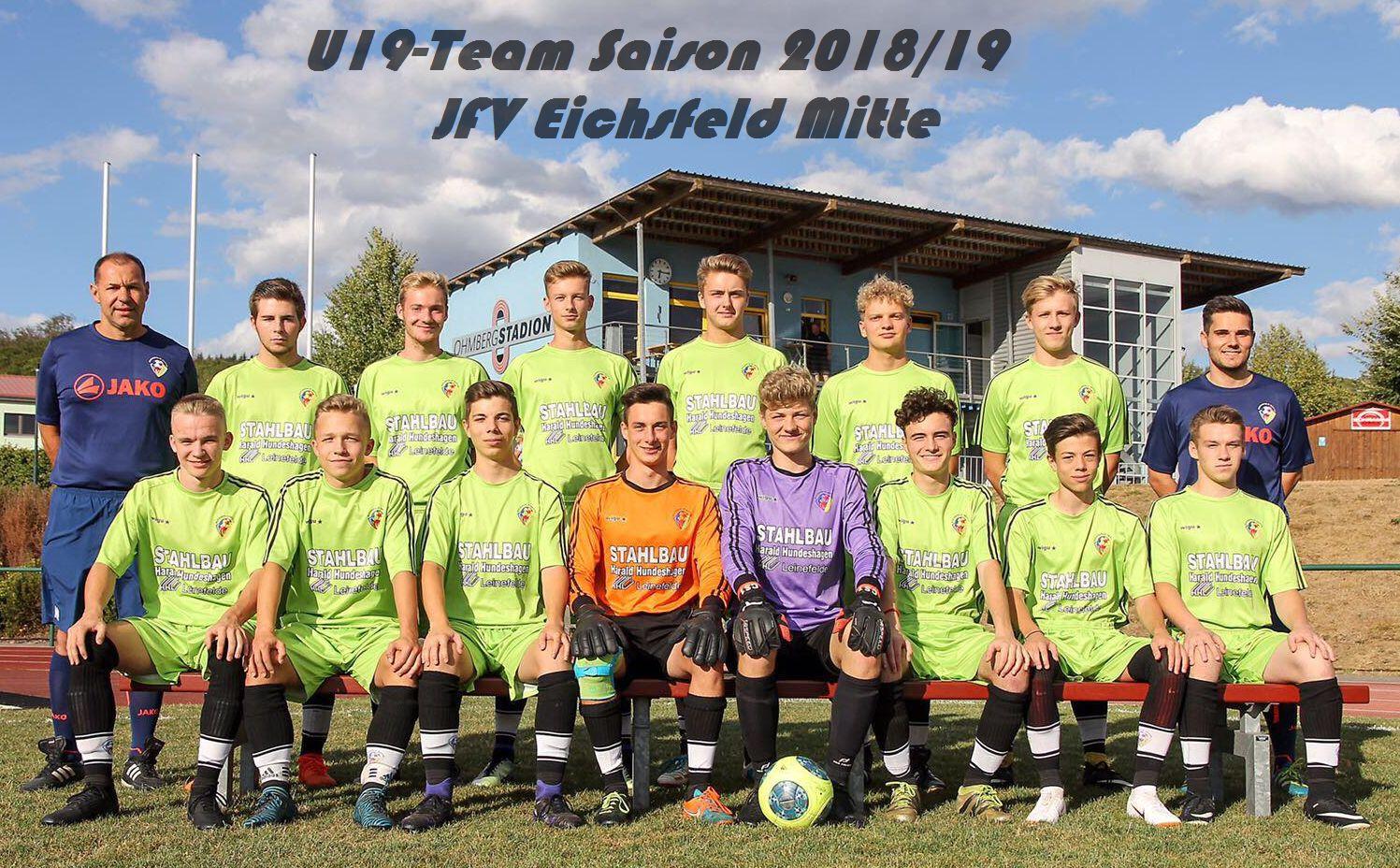 A-Junioren des JFV Eichsfeld Mitte eine von 16 regionalen Mannschaften
